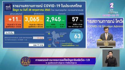 แถลงข่าวโควิด-19 วันที่ 28 พฤษภาคม 2563 : ยอดผู้ติดเชื้อรายใหม่ 11 ราย ไม่มีผู้เสียชีวิตเพิ่ม
