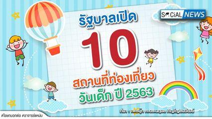 วันเด็ก2563 ไม่มีเหงา! รัฐบาลเปิด 10 สถานที่ท่องเที่ยวฟรี กิจกรรมเด็ด ห้ามพลาด