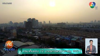 ครม.เห็นชอบ 12 มาตรการแก้ปัญหาฝุ่น PM2.5