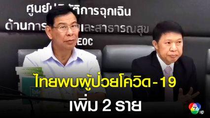 สธ.พบผู้ป่วยโควิด-19 เพิ่มอีก 2 ราย เป็นคนไทยทั่งคู่