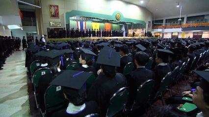 สมเด็จเจ้าฟ้าฯ กรมพระศรีสวางควัฒน วรขัตติยราชนารี เสด็จแทนพระองค์ไปในการพระราชทานปริญญาบัตรแก่ผู้สำเร็จการศึกษาจากมหาวิทยาลัยเกษตรศาสตร์ ประจำปีการศึกษา 2561 เป็นวันแรก