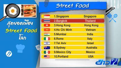 เปิดผลสำรวจ กรุงเทพฯ ติดอันดับ 2 สุดยอดอาหารเมือง Street Food ของโลก