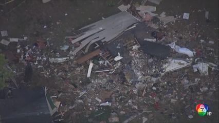 เกิดเหตุเครื่องบินเล็กตกใส่บ้านพักหลังหนึ่งในสหรัฐฯ