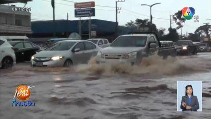 ฝนถล่มหนัก น้ำท่วมกลางเมืองสุราษฎร์ธานี นองเป็นทะเลสูงกว่าครึ่งเมตร