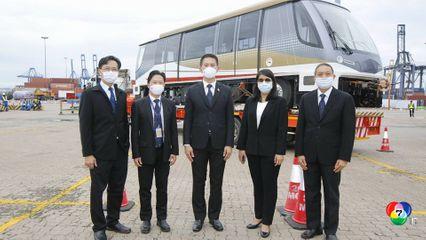 ถึงแล้วรถไฟฟ้าสายสีทองขบวนแรกของไทย