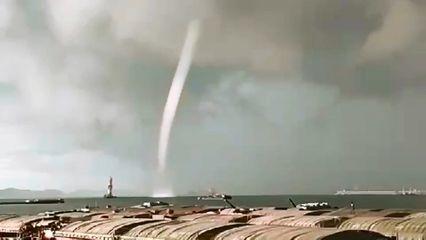 พายุงวงช้าง ก่อตัวกลางทะเลเกาะสีชัง