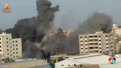 อิสราเอลตอบโต้การระดมยิงจรวดของกลุ่มฮามาสอย่างหนักตลอดคืน