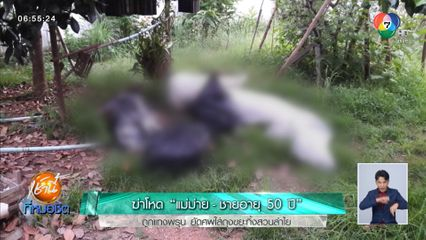 ฆ่าโหด แม่ม่าย-ชายอายุ 50 ปี ถูกแทงพรุน ยัดศพใส่ถุงขยะทิ้งสวนลำไย