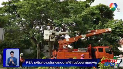 PEA เสริมความมั่นคงระบบไฟฟ้าในช่วงพายุฤดูฝน