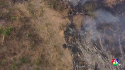 นักผจญเพลิงบราซิลประสบปัญหาควบคุมไฟป่า
