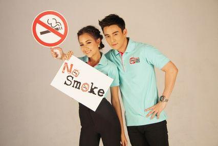 """""""แซมมี่ - ธันวา"""" ปลื้ม!! รับหน้าที่พรีเซ็นเตอร์ วันงดสูบบุหรี่โลก ประจำปี 2556"""