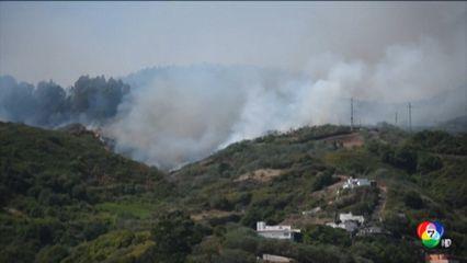 เร่งอพยพประชาชนกว่า 5 พันคน หนีไฟป่าในสเปน