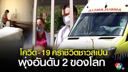 สเปน พบผู้เสียชีวิตจากโรคโควิด-19 มากเป็นอันดับ 2 ของโลก
