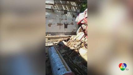 แผ่นดินไหวรุนแรงขนาด 5.0 ในจีน บ้านเรือน-อาคารหลายหลังพังถล่ม