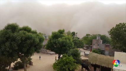 พายุทรายพัดเข้าปกคลุมหลายพื้นที่ในอินเดีย ทัศนวิสัยย่ำแย่-กระทบการจราจร