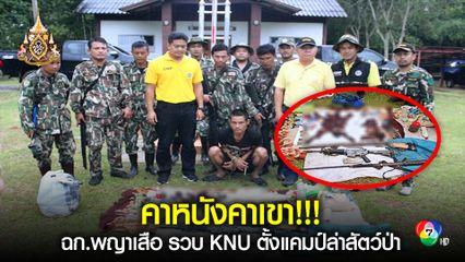 บุกรวบ KNU ตั้งแคมป์ล่าสัตว์เขตไทย สลด!!! พบซากหมีขอ ลิงกัง อาวุธเพียบ