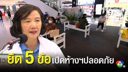 สธ.แนะยึด 5 แนวทางเปิดห้างสรรพสินค้าและกิจการปลอดโควิด-19