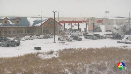 พายุหิมะพัดกระหน่ำหลายรัฐ ในสหรัฐฯ
